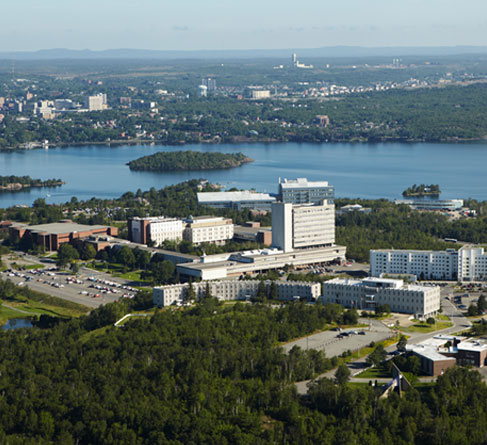 wide shot of the Laurentian campus